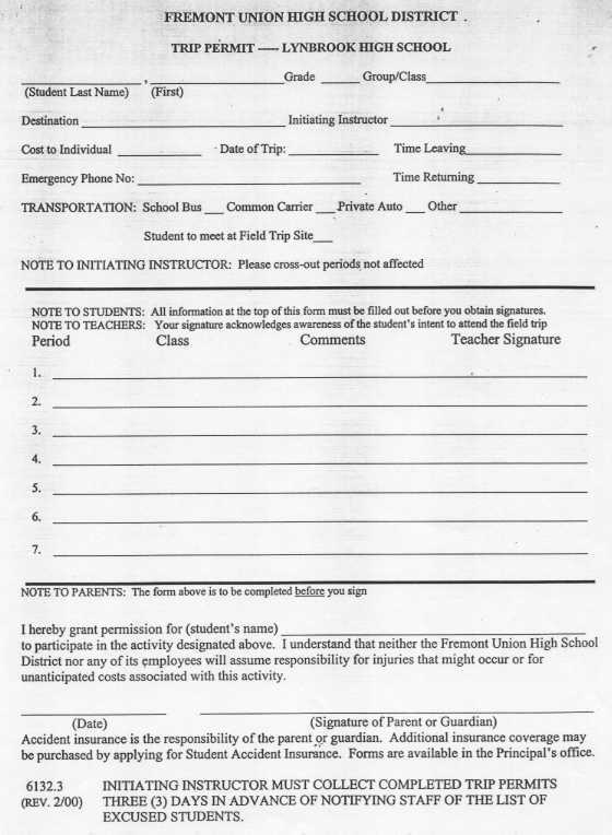Lynbrook High School  Forms
